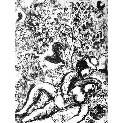 CHAGALL Marc - LE COUPLE Á L'ARBRE